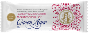 Queen Anne Milk Chocolate Raspberry Jelly & Vanilla Marshmallow Bar 55g