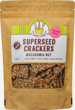 Creative Cooking Super Seed Crackers - Macadamia Nut 120g