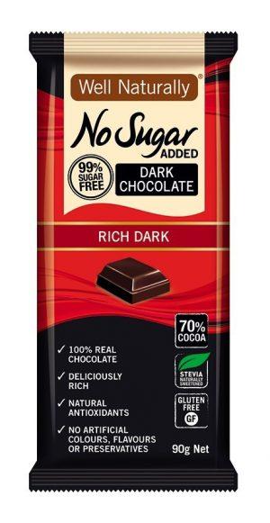 Well Naturally Dark Chocolate Rich 90g