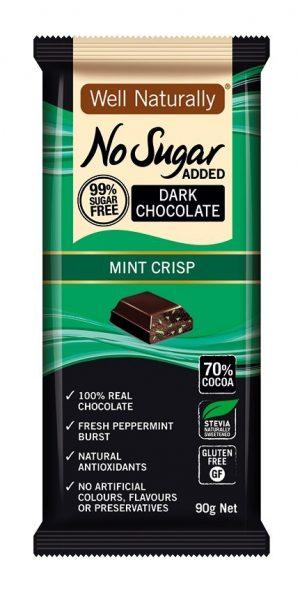 Well Naturally Dark Chocolate Mint Crisp 90g