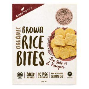 Ceres Organics Rice Bites Sea Salt and Vinegar 100g