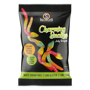 Sugarless Confectionery Charming Snakes 70g