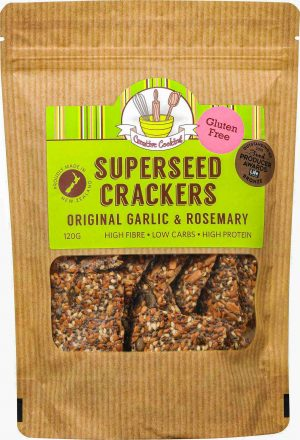 Creative Cooking Super Seed Crackers - Original Garlic and Rosemary 120g