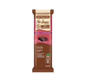 Well Naturally Chocolate Sweet Raspberry 45g