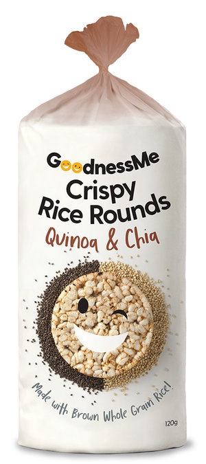 Goodness Me Rice Rounds - Quinoa and Chia 120g