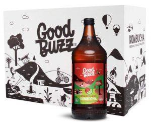 Good Buzz Strawberry Lime Kombucha 328ml
