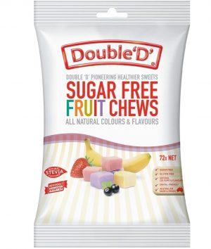 Double Ds Sugar Free Fruit Chews 72g
