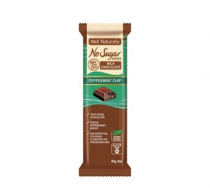 Well Naturally Chocolate Peppermint Chip 45g