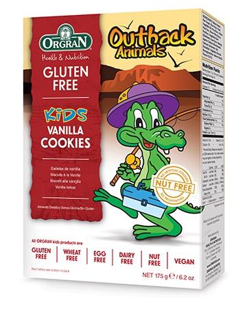 Orgran Outback Animals Kids Vanilla Cookies 175g