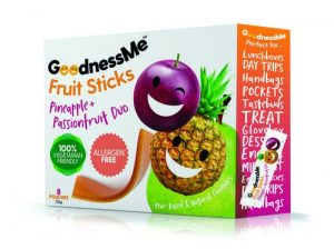 Goodness Me Fruit Sticks - Pineapple and Passionfruit Duo 136g