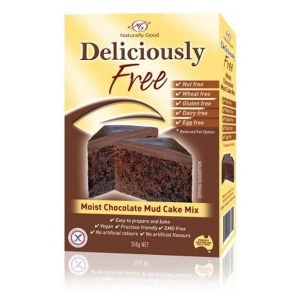 Naturally Good Deliciously Free Moist Chocolate Mud Cake Mix 450g