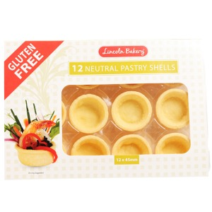 Lincoln Bakery 12 Neutral Pastry Shells 12x45 120g
