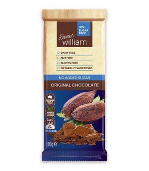 Sweet William Original No Added Sugar Chocolate 100g