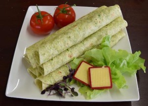"Cottage Lane Gluten Free 10.5"" Spinach Wraps 250g FROZEN"