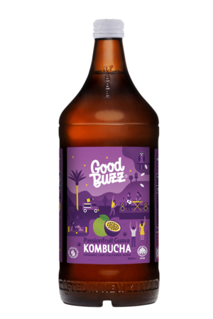 Good Buzz Passionfruit Guava Kombucha 328ml