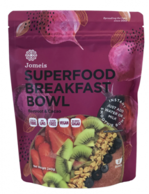 Jomeis Superfood Breakfast Bowl - Beetroot & Cacao 240g