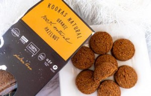 Kookas Natural Orange & Hazelnut Biscuits 180g