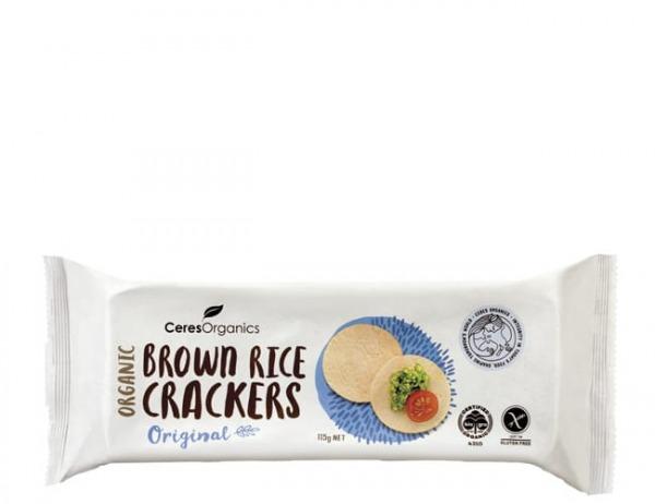 Ceres Organics Brown Rice Crackers Original 115g