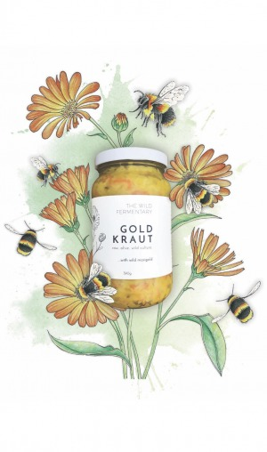 The Wild Fermentary Gold Kraut with Marigold 390g