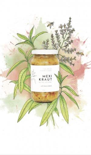 The Wild Fermentary Mexi Kraut with Lemon Verbena 390g