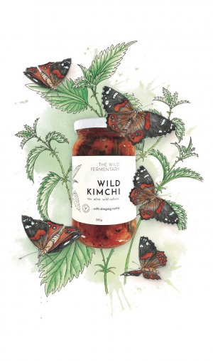 The Wild Fermentary Wild Kimchi with Stinging Nettle 390g