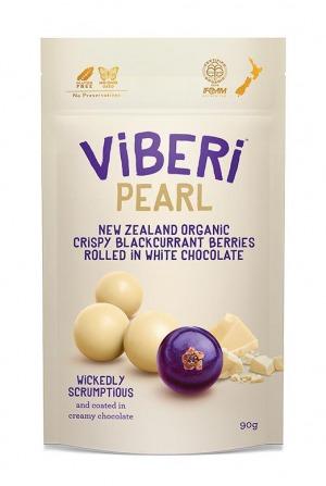 Viberi Pearl Crisp Blackcurrants White Choc 90g