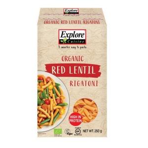 Explore Cuisine Red Lentil Rigatoni 250g