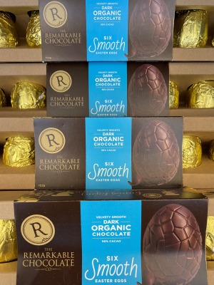 The Remarkable Chocolate Co. Dark Organic Chocolate Smooth Easter Eggs (6) 102g