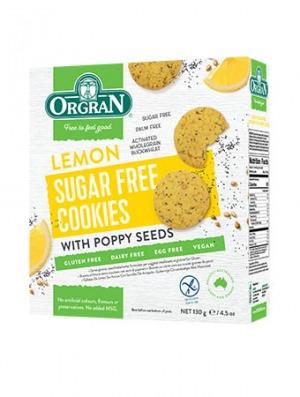 Orgran Lemon Sugar Free Cookies with Poppy Seed 130g