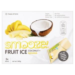 Smooze Fruit Ice Coconut & Banana (5) 325ml