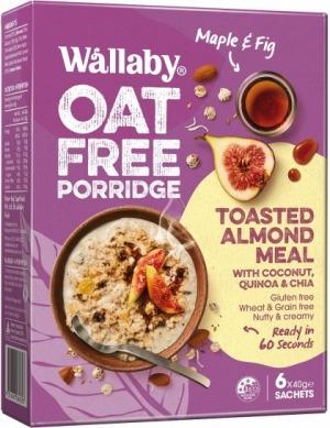 Wallaby Oat Free Porridge Mapel/Fig 6x40g
