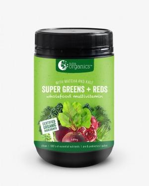Nutra Organics Super Greens & Reds Powder 150g