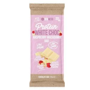 Vitawerx White Choc, Raspberry & Macadamia Bar 100g