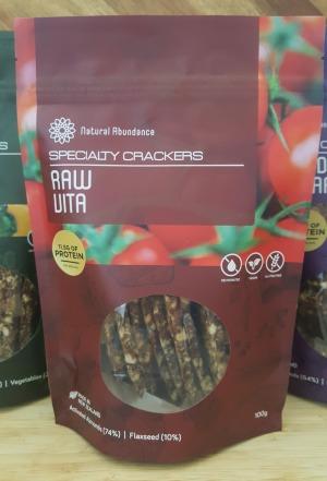 Natural Abundance Raw Vita Crackers 100g